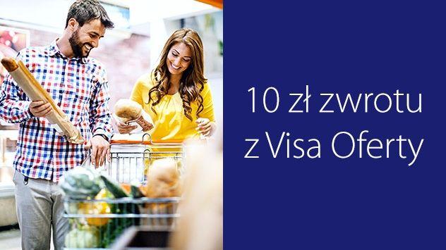10 zł zwrotu za zakupy z kartą Visa na min. 100 zł w Carrefour.