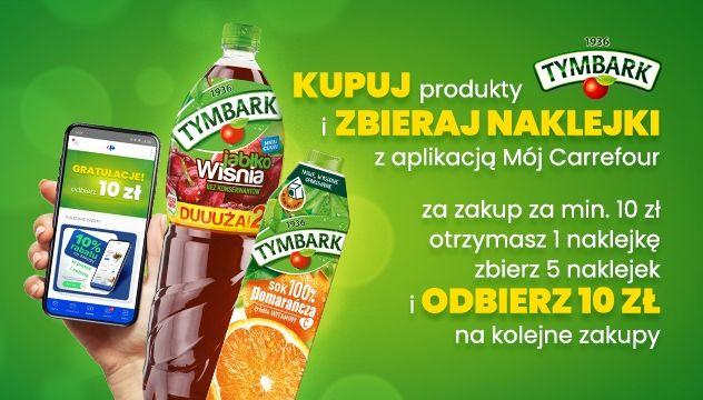 Akcja naklejkowa Produkty Tymbark