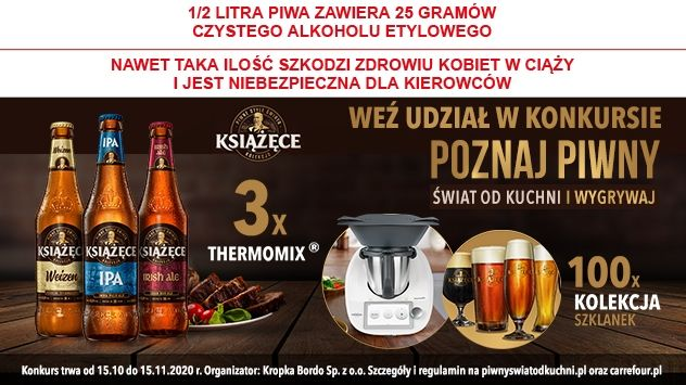 Konkurs Książęce Poznaj piwny świat od kuchni i wygrywaj