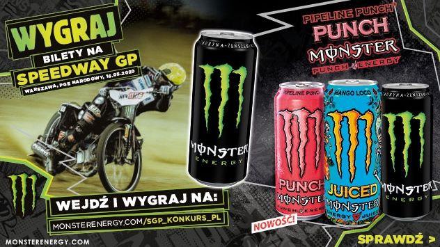 Konkurs Monster - Wygraj dwa bilety na PZM Warsaw FIM Speedway Grand Prix