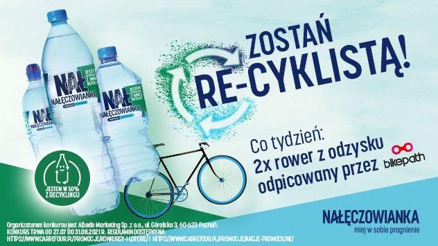 Konkurs Nałęczowianka Zostań re-cyklistą