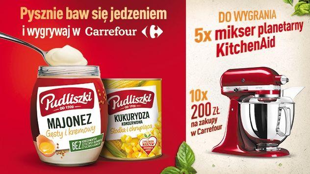 Konkurs Pudliszki - Pysznie baw się jedzeniem i wygrywaj w Carrefour