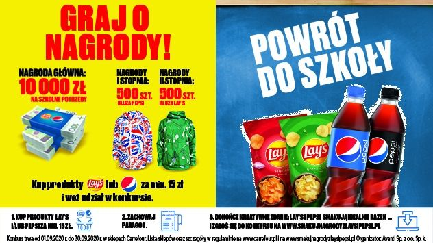 Konkurs Smakuj nagrody z Lays i Pepsi