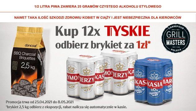 Kup 12x Tyskie i odbierz brykiet za 1 zł
