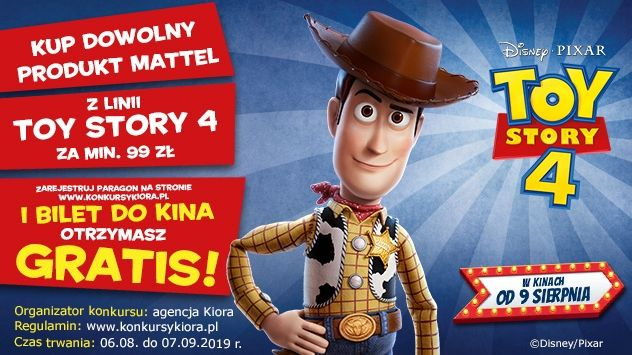 Kup produkt Toy Story 4 i odbierz bilety do kina