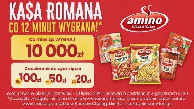 Loteria Amino -KASA ROMANA Co 12 minut wygrana