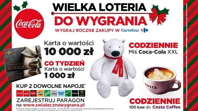 Loteria Coca - Cola - Świąteczna Wygrana