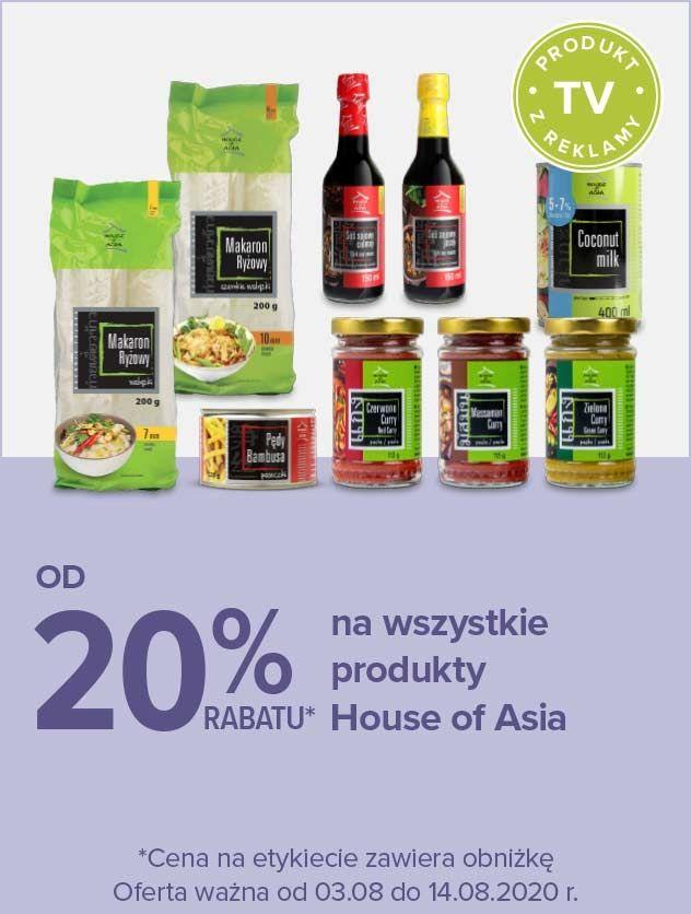 do 20% na wszystkie produkty House of Asia