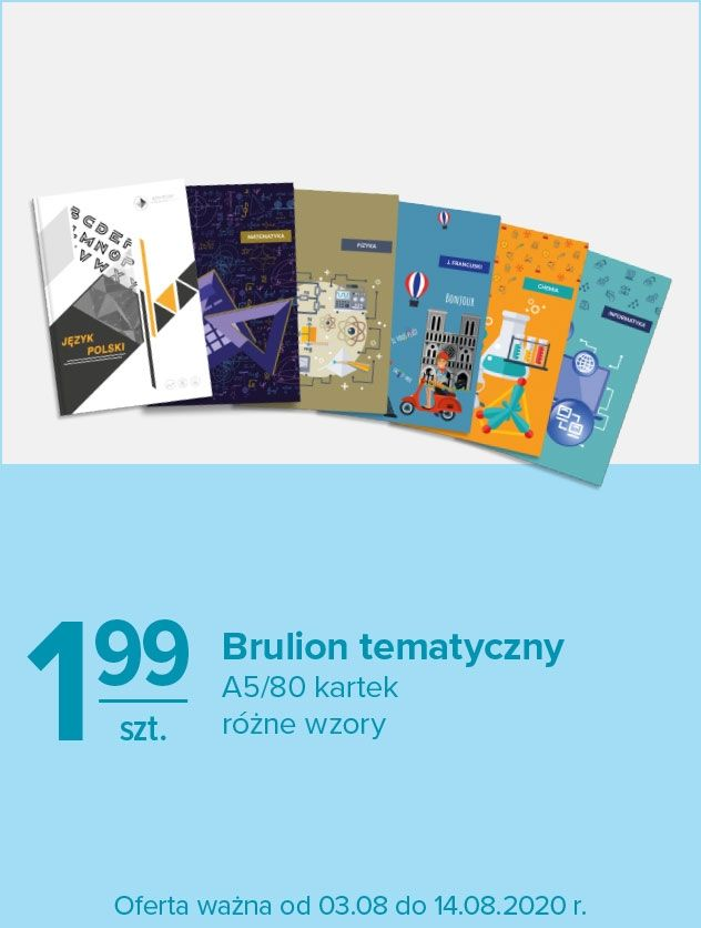 Brulion tematyczny A5/8- kartek