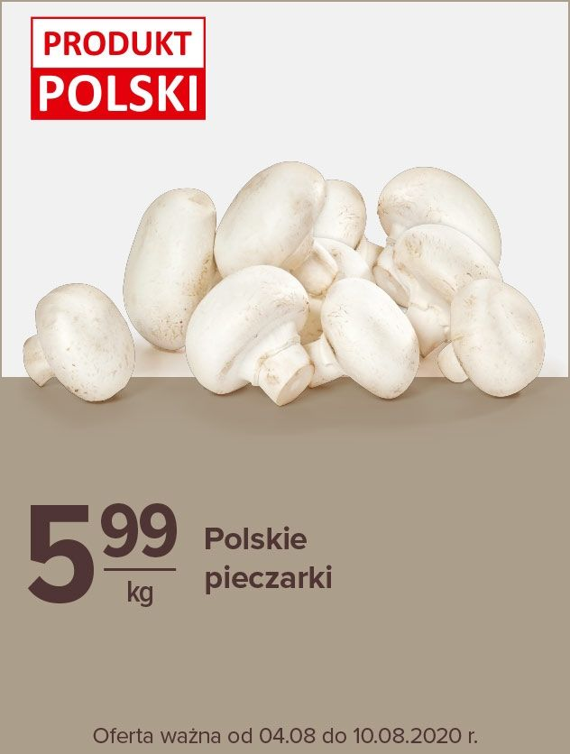 Pieczarki kg Polska