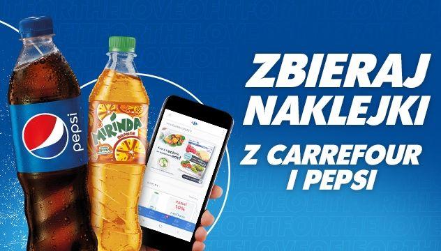Akcja naklejkowa Produkty Pepsi, Mirinda, 7up, Mountain Dew
