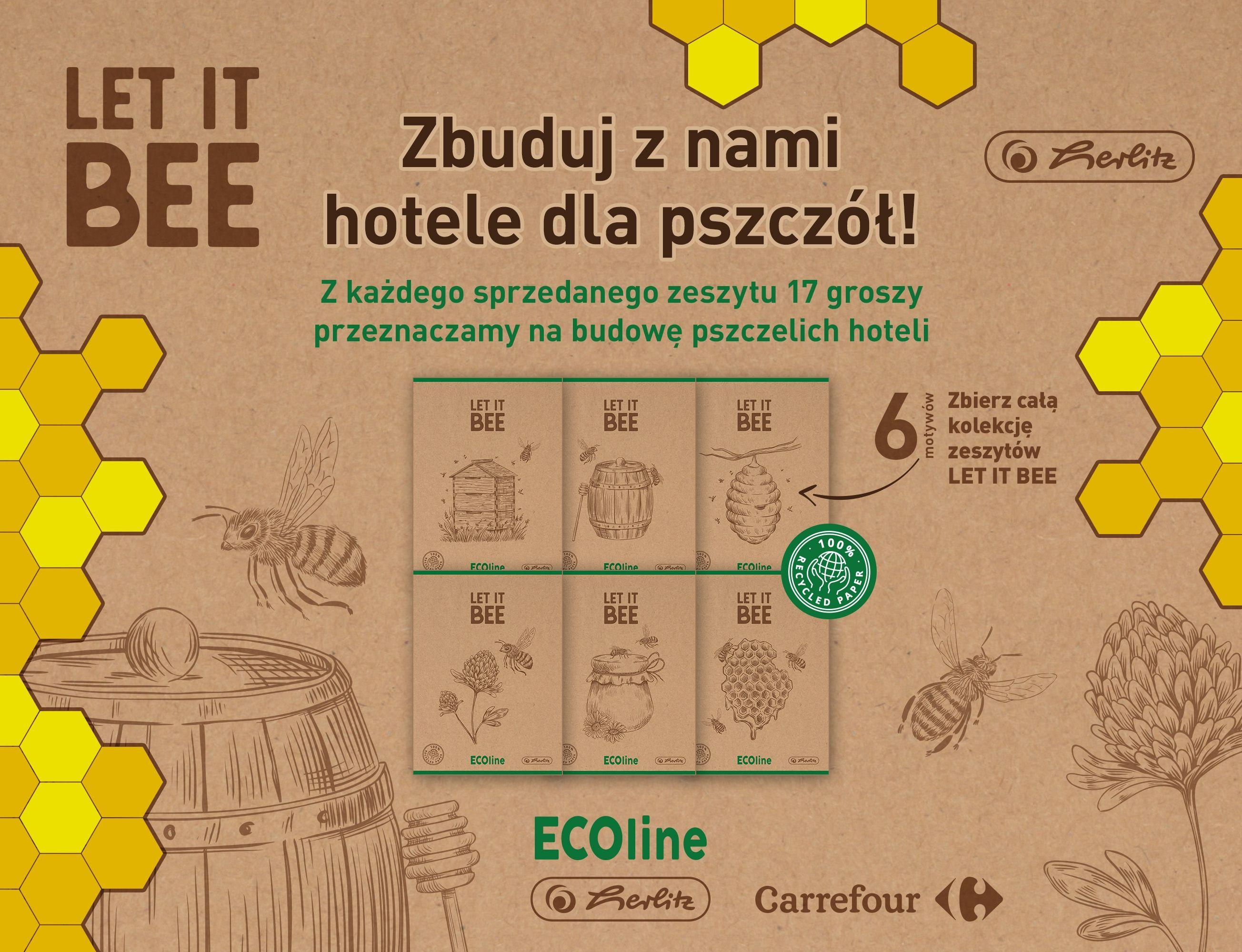 17 groszy ze sprzedaży zeszytów LET IT BEE przekazujemy na budowę pszczelich hoteli