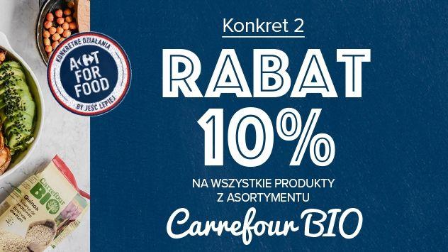 Rabat na produkty Carrefour BIO