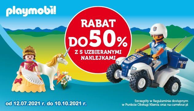 Zbieraj naklejki i kup dowolny produkt z kolekcji Playmobil z rabatem do 50%