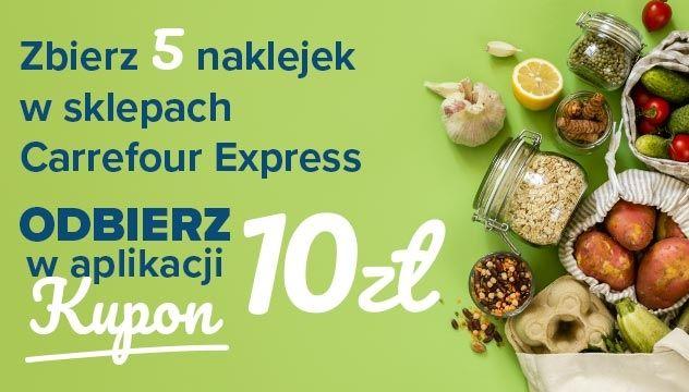 Zbieraj naklejki za zakupy z aplikacją w sklepach Carrefour Express