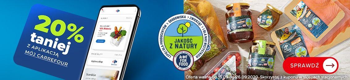 Wszystkie produkty Jakość z Natury Carrefour 20% z aplikacją Mój Carrefour