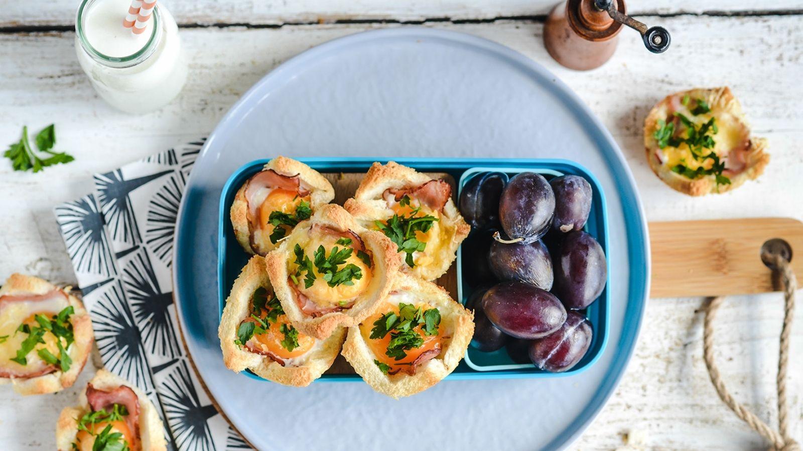 Kanapkowe muffinki z jajkiem sadzonym