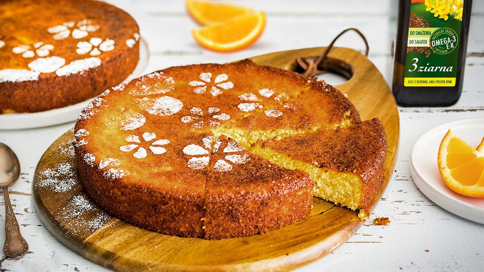 Migdałowe ciasto pomarańczowe