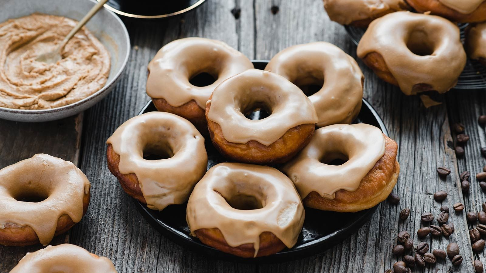 Orkiszowo-kawowe donuty
