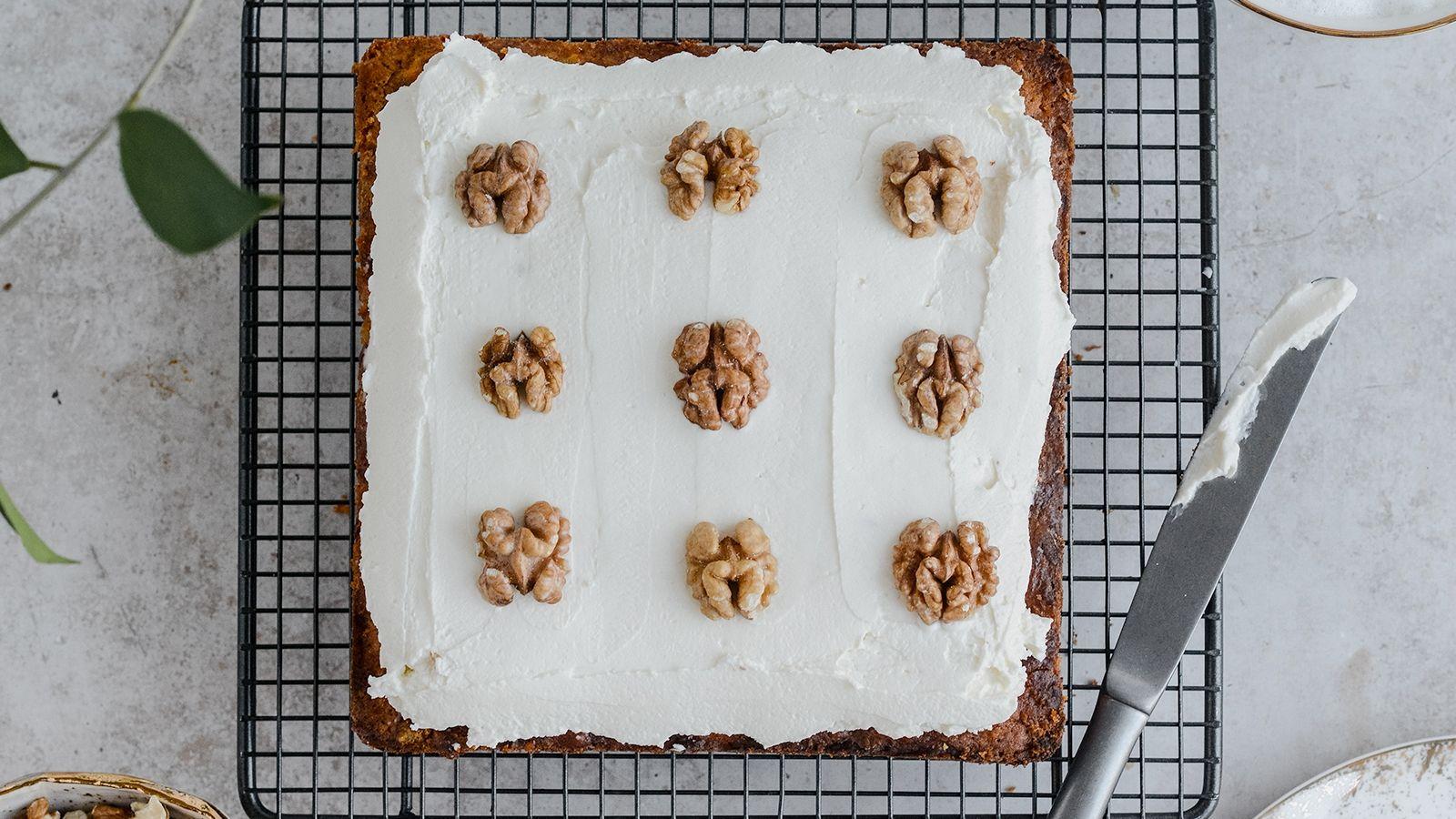 Świąteczne ciasto marchewkowe bez cukru