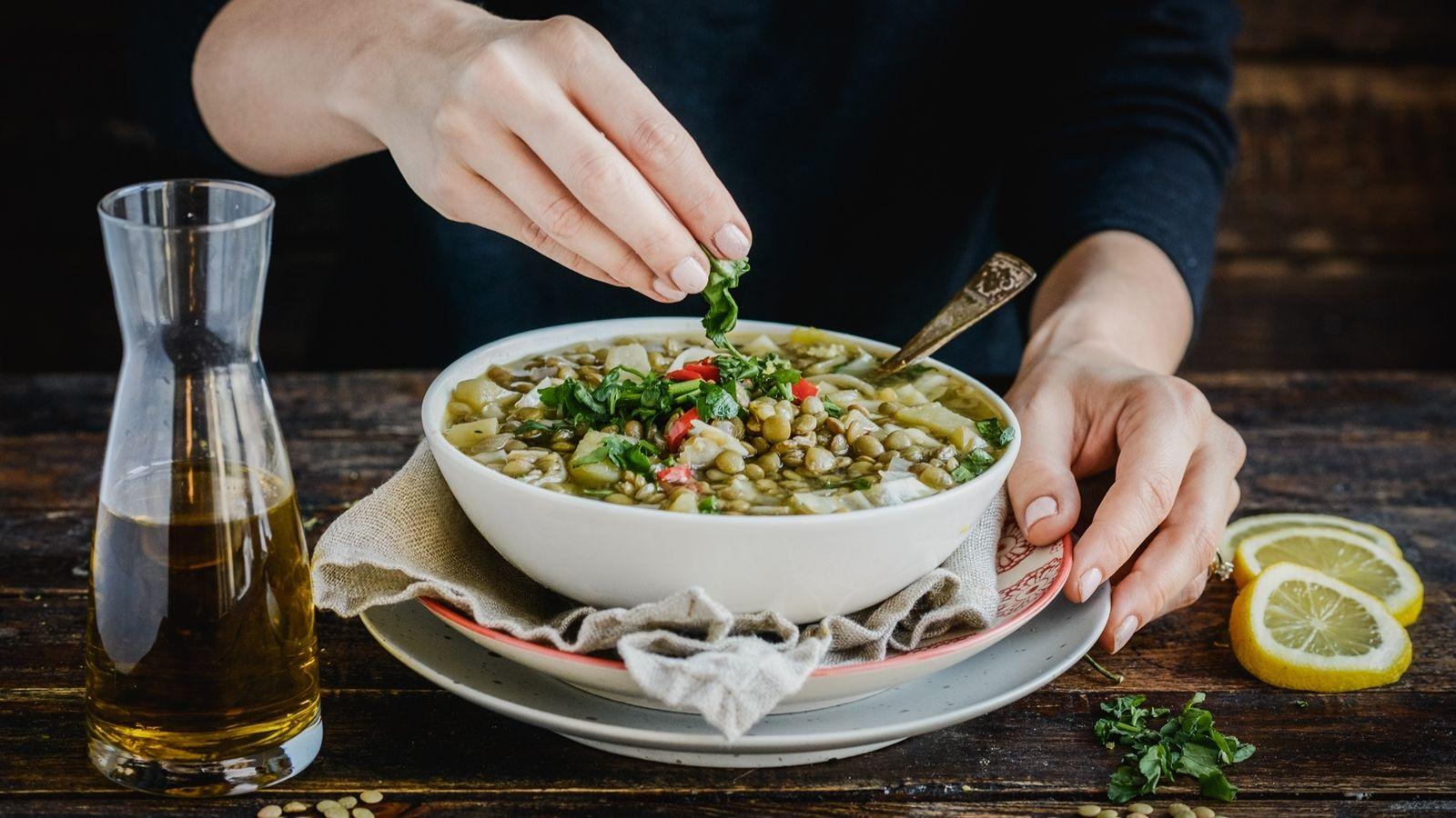 Zupa cytrynowa z soczewicą