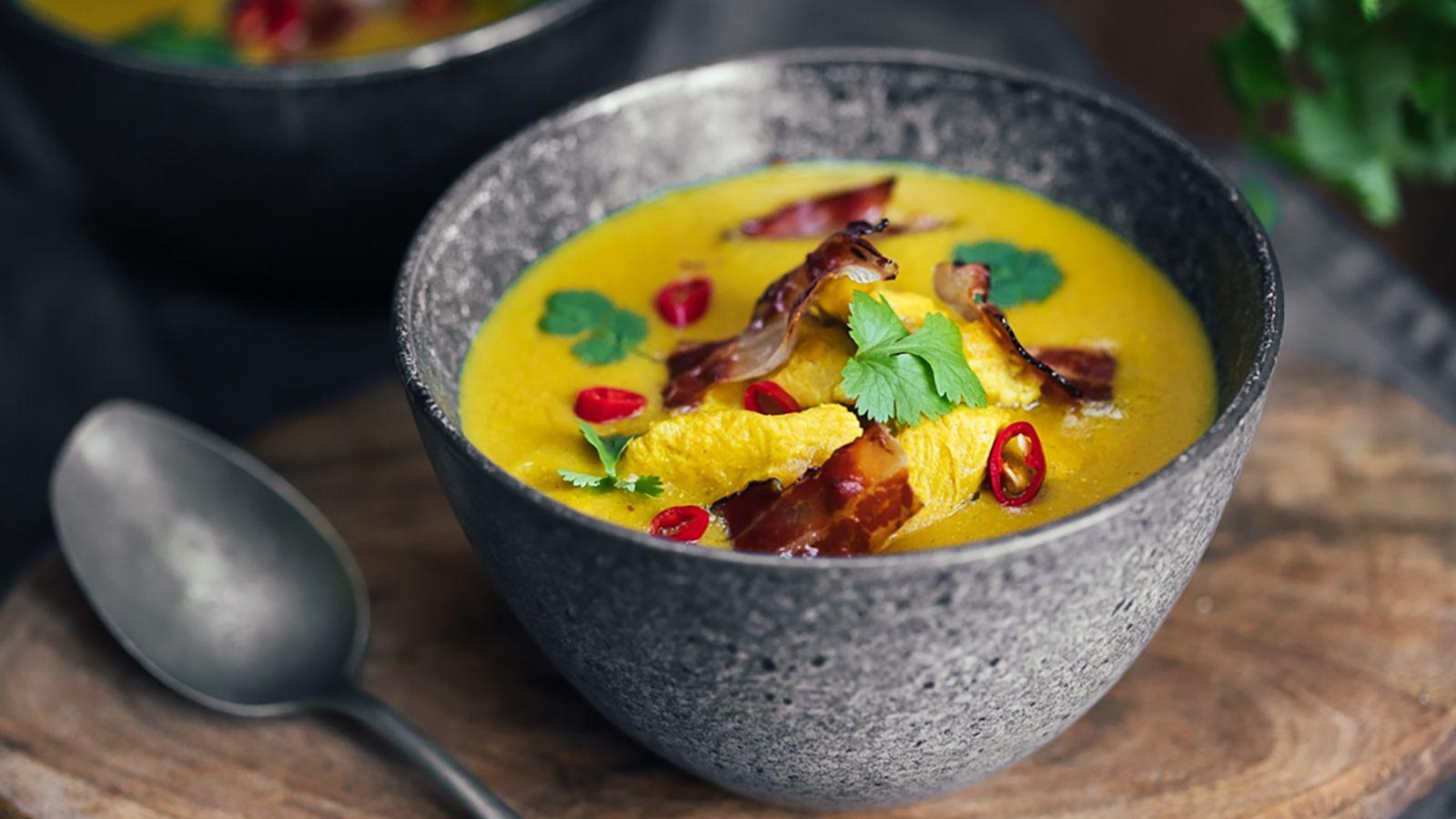 Zupa krem z kukurydzy z mlekiem kokosowym