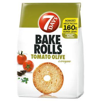 7 Days Bake Rolls Chrupki chlebowe o smaku pomidora oliwki i oregano 160 g