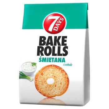 7 Days Bake Rolls Chrupki chlebowe o smaku śmietanowo-cebulowym 160 g