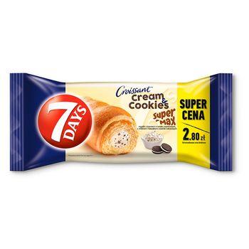 7 Days Cream & Cookies Max Rogalik z kremem o smaku waniliowym z mlekiem i kawałkami ciastek 110 g