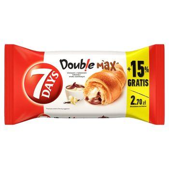 7 Days Doub!e Max Croissant z nadzieniem o smaku kakaowym i waniliowym 110 g