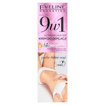 9w1 Ultradelikatny krem do depilacji sensitive z bio olejkiem z bawełny 5min: pachy, bikini, nogi