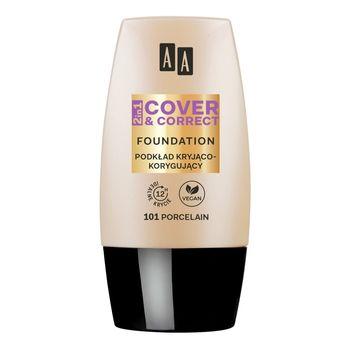 AA 2in1 Cover&Correct Podkład kryjąco korygujący 101 Porcelain 30 ml