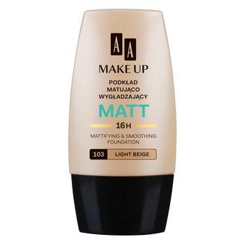 AA Make Up Matt podkład matująco wygładzający 103 light beige 30 ml