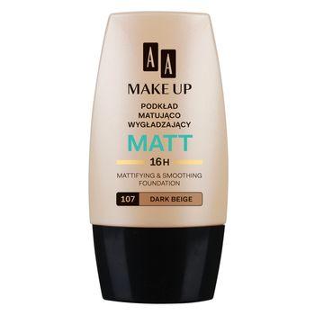 AA Make Up Matt podkład matująco wygładzający 107 dark beige 30 ml