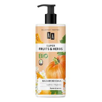 AA Super Fruits&Herbs balsam do ciała dynia&jaśmin 500 ml