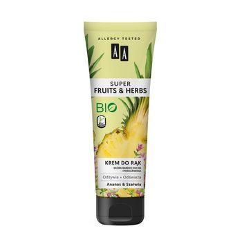 AA Super Fruits&Herbs krem do rąk ananas&szałwia 100 ml