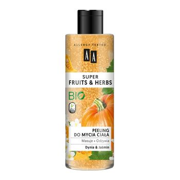 AA Super Fruits&Herbs peeling do mycia ciała dynia&jaśmin 200 ml
