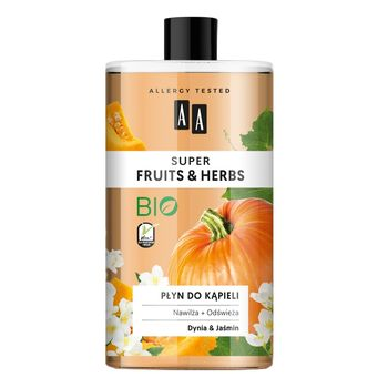 AA Super Fruits&Herbs płyn do kąpieli dynia&jaśmin 750 ml