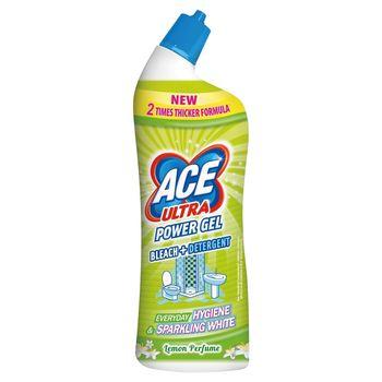 Ace Ultra Power Gel Lemon Odtłuszczający żel z wybielaczem 750 ml