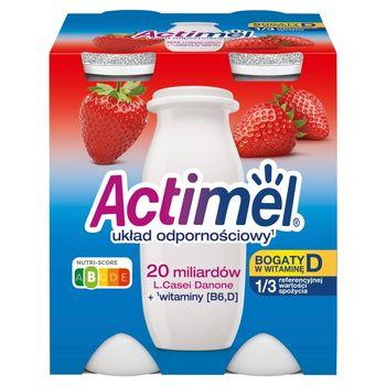 Actimel Mleko fermentowane o smaku truskawkowym 400 g (4 x 100 g)