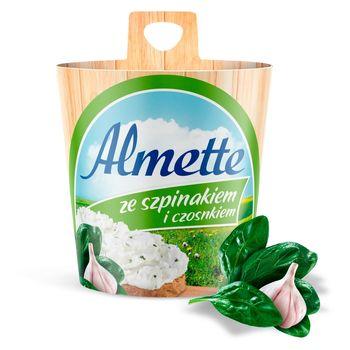 Almette Puszysty serek twarogowy ze szpinakiem i czosnkiem 150 g