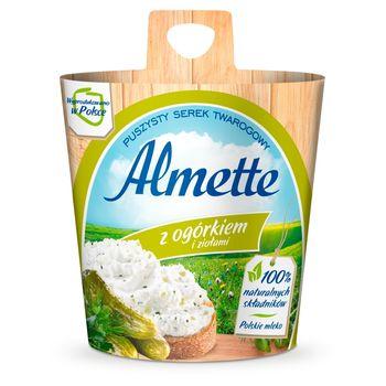 Almette Puszysty serek twarogowy z ogórkiem i ziołami 150 g