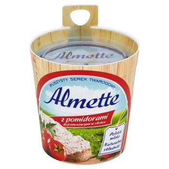 Almette z pomidorami dojrzewającymi w słońcu Puszysty serek twarogowy 150 g