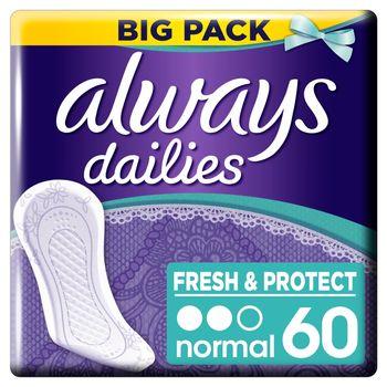 Always Dailies Fresh & Protect Normal Wkładki Higieniczne x 60
