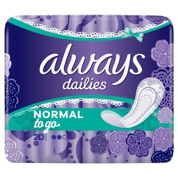 Always Dailies Normal To Go  Wkładki higieniczne, 20 sztuk