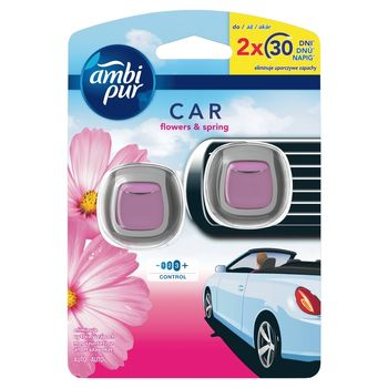Ambi Pur Car Flowers & Spring Zestaw startowy samochodowego odświeżacza powietrza, 2 sztuka