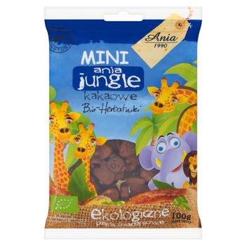 Ania Mini ania jungle kakaowe Bio herbatniki Ekologiczne płatki śniadaniowe 100 g