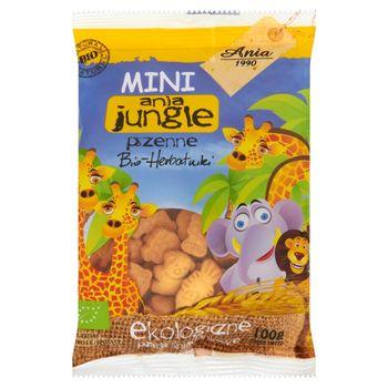 Ania Mini ania jungle pszenne Bio herbatniki Ekologiczne płatki śniadaniowe 100 g