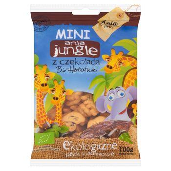 Ania Mini ania jungle z czekoladą Bio herbatniki Ekologiczne płatki śniadaniowe 100 g