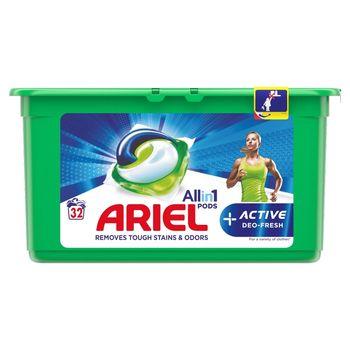 Ariel Allin1 +Active Odor Defense Kapsułki do prania, 32prań